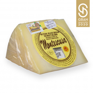 Wedge Manchego D.O.P. Cheese Montescusa Semicured