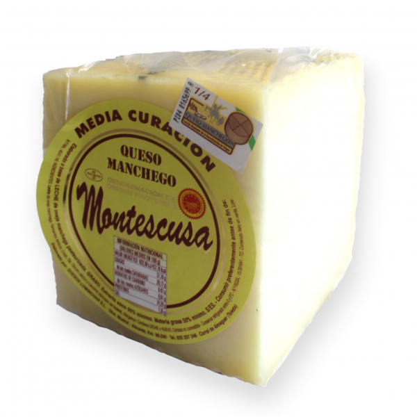 Manchego D.O.P. Cheese Montescusa Semicured