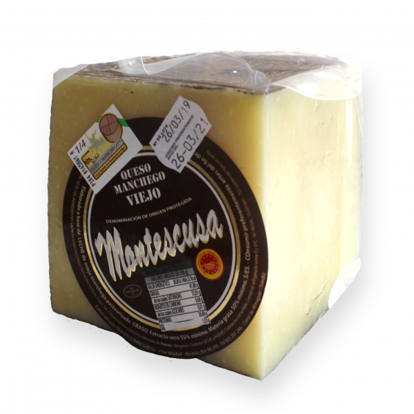 Manchego D.O.P. Cheese Montescusa Old Cured
