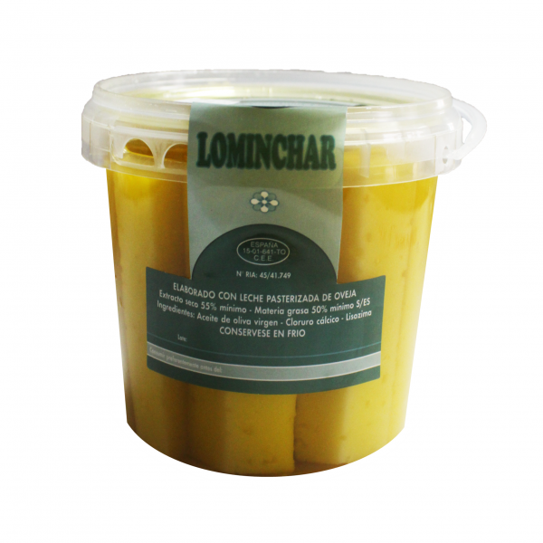 Jar Of Lominchar Cheese Cured In Olive Oil