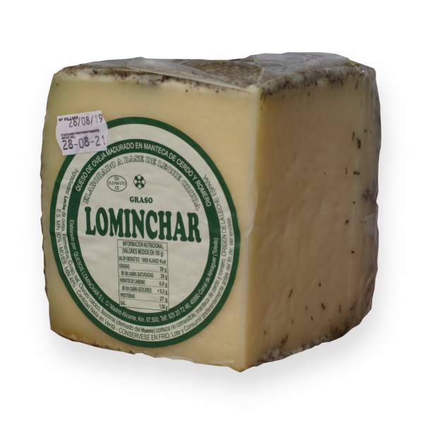 Quarter Lominchar Cheese Cured In Rosemary