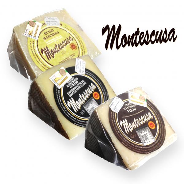 Lote Montescusa (3 Cuñas De Queso Manchego D.O.P.)