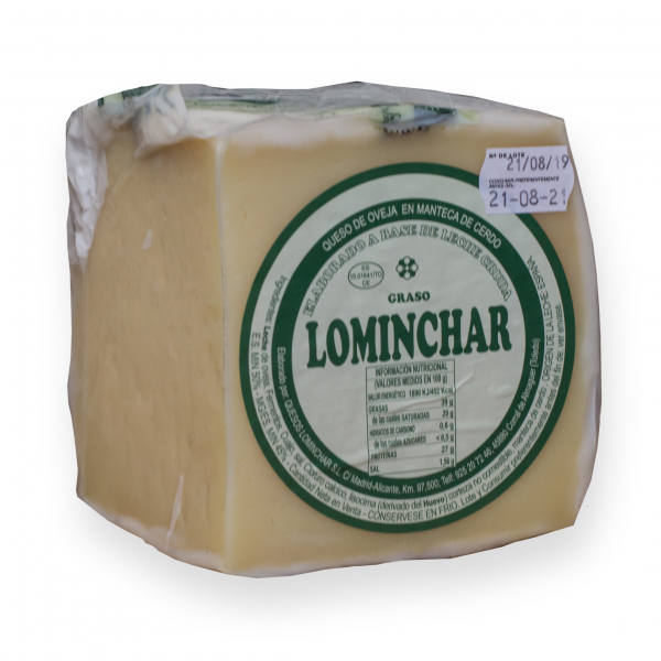 Quarter Lominchar Cheese Cured In Lard